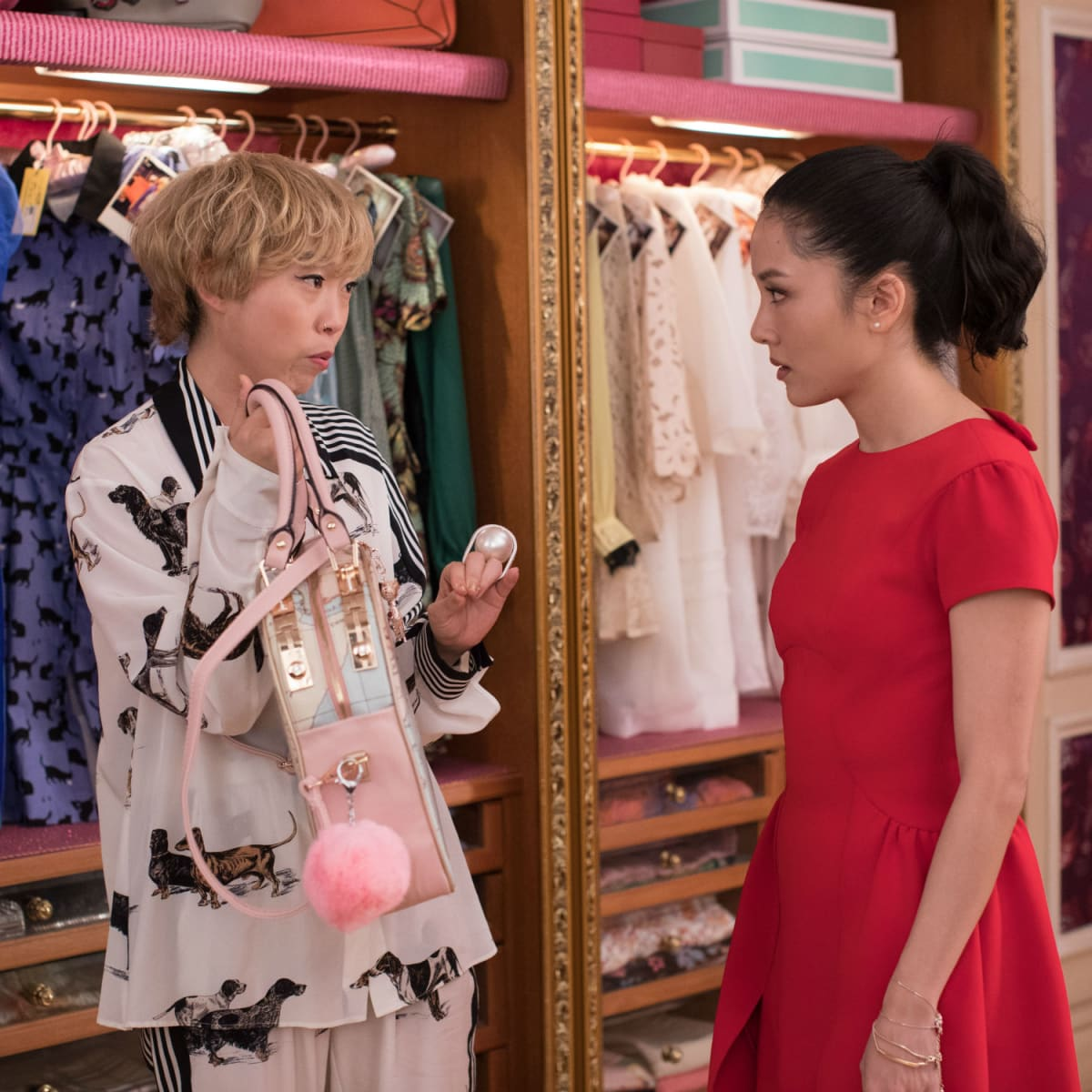 Awkwafina and Constance Wu in Crazy Rich Asians