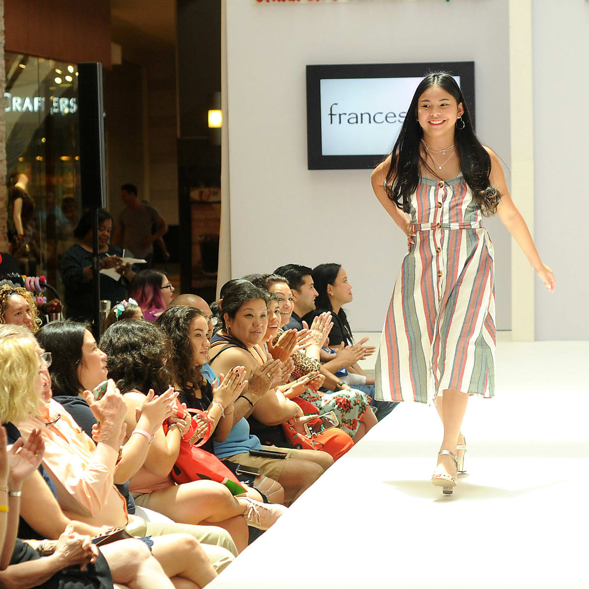 Patient Althea Guinto MD Anderson fashion show