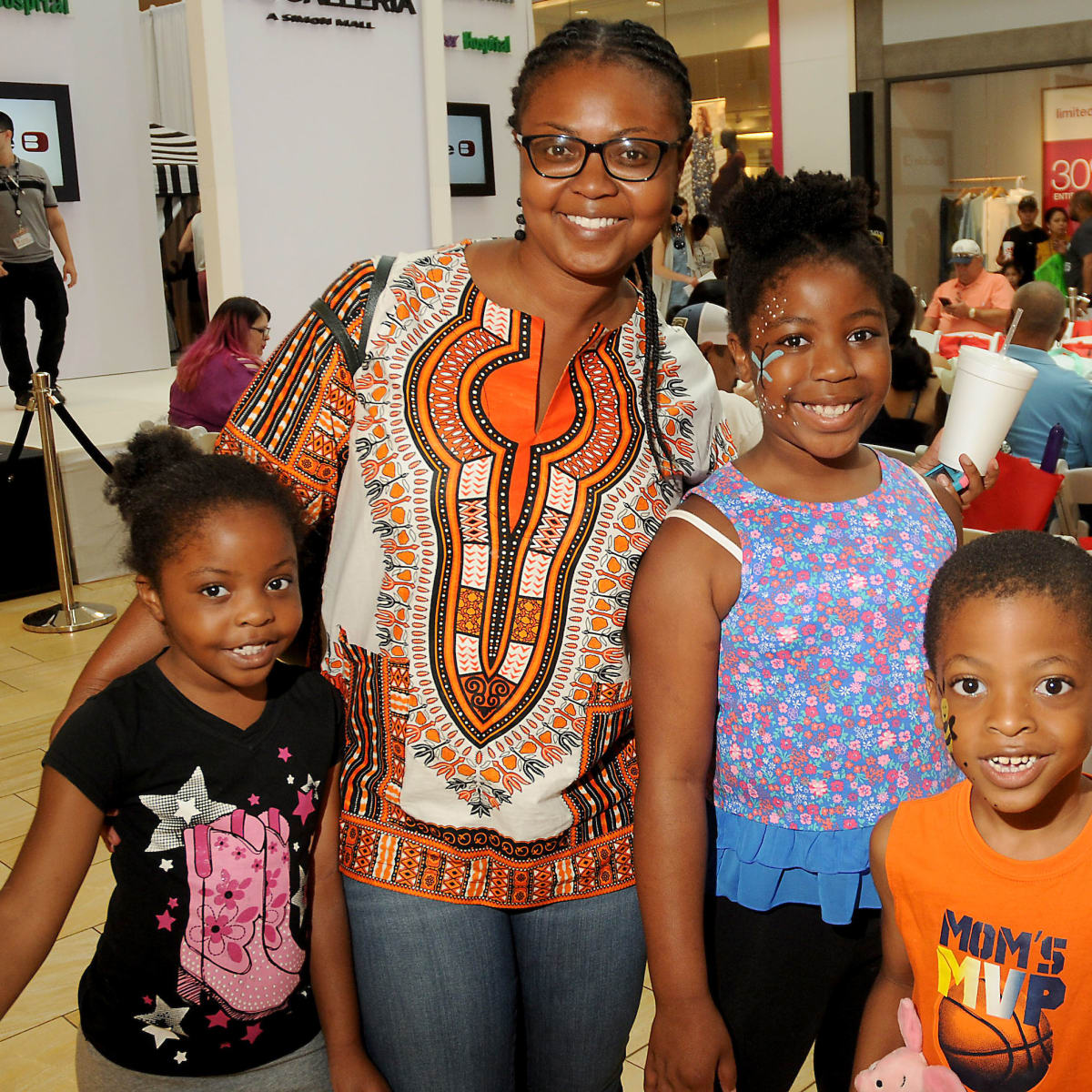 E.J. Unegbu with Abigail Naomi and Daniel