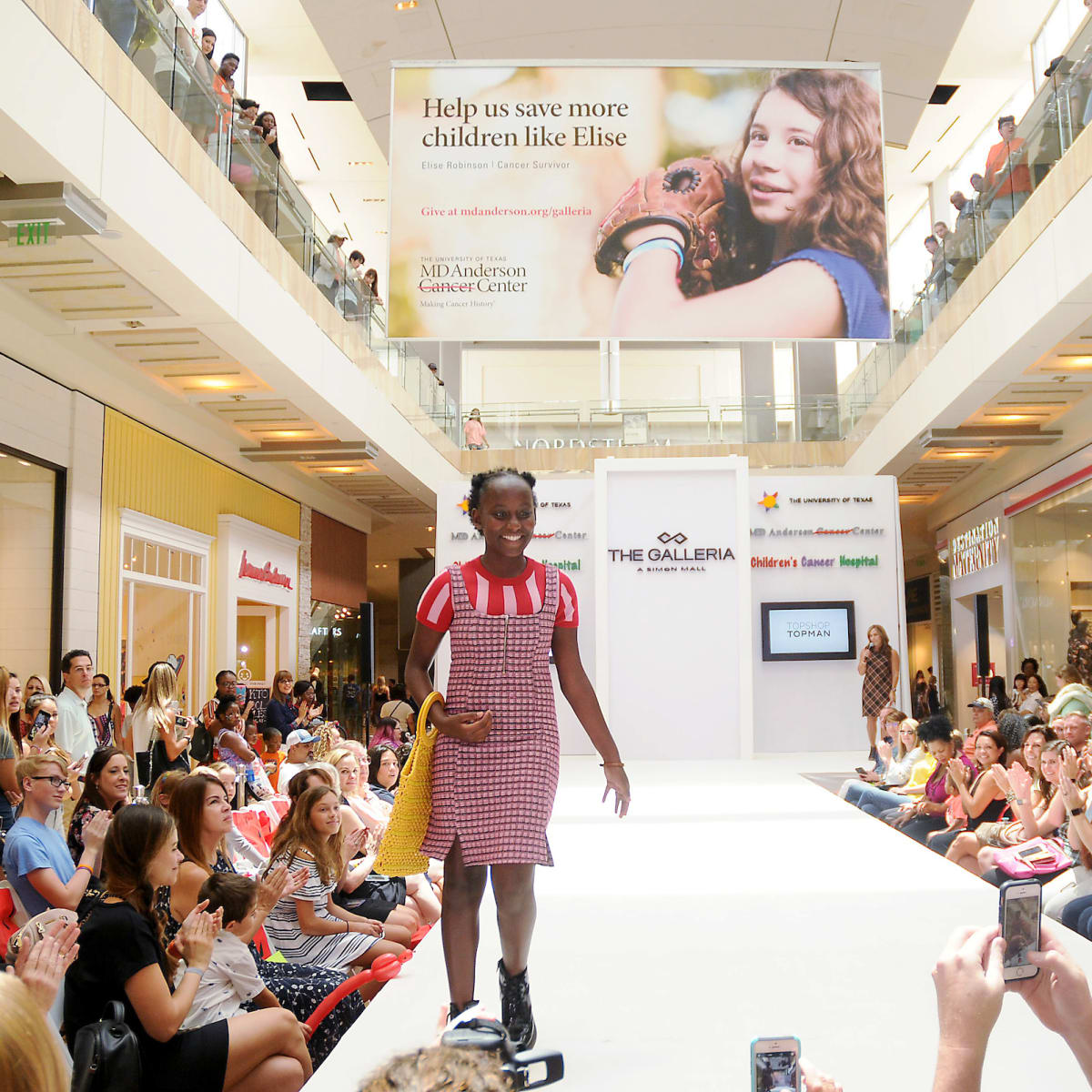MD Anderson fashion show patient Patient Aaliyah Parker