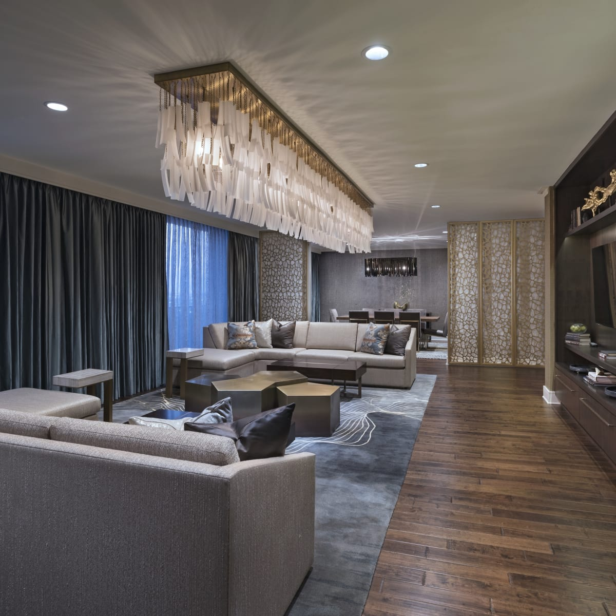 The Westin Galleria Houston Pinnacle suite living room