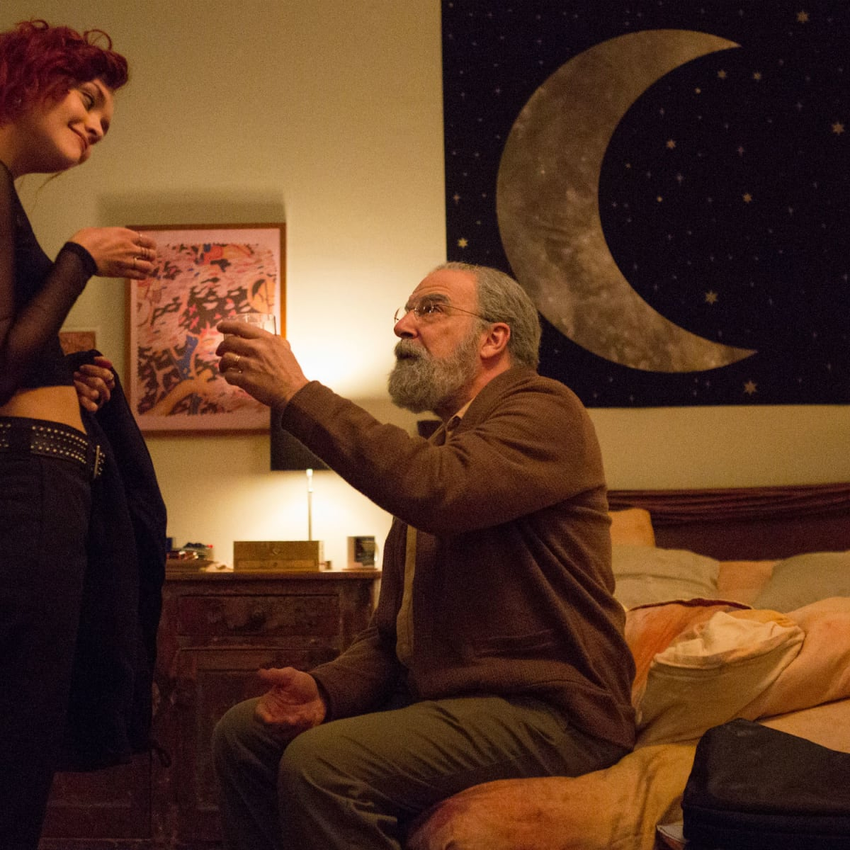 Olivia Cooke and Mandy Patinkin in Life Itself