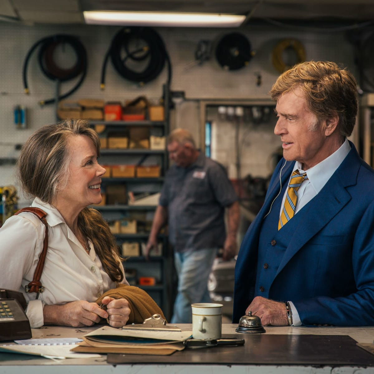 Sissy Spacek and Robert Redford in The Old Man and the Gun
