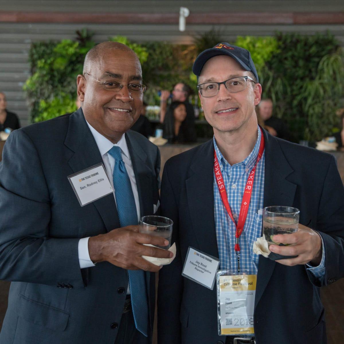 Texas Tribune Festival 2018 VIP Cocktail Hour at Brazos Hall Senator Rodney Ellis Jay Root