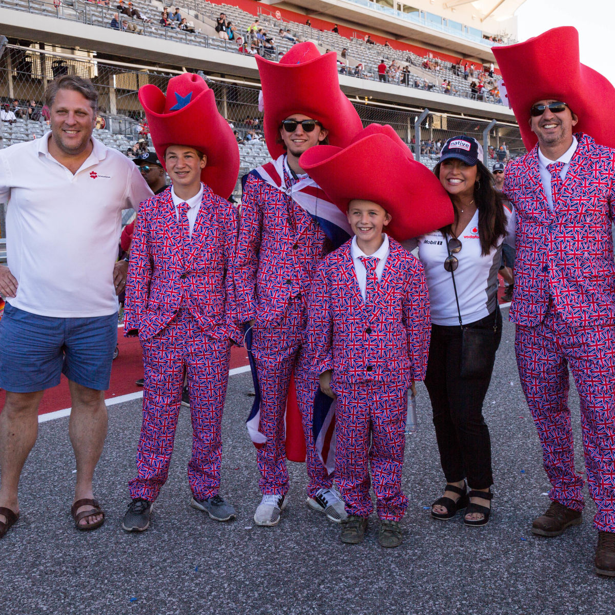 British family at COTA