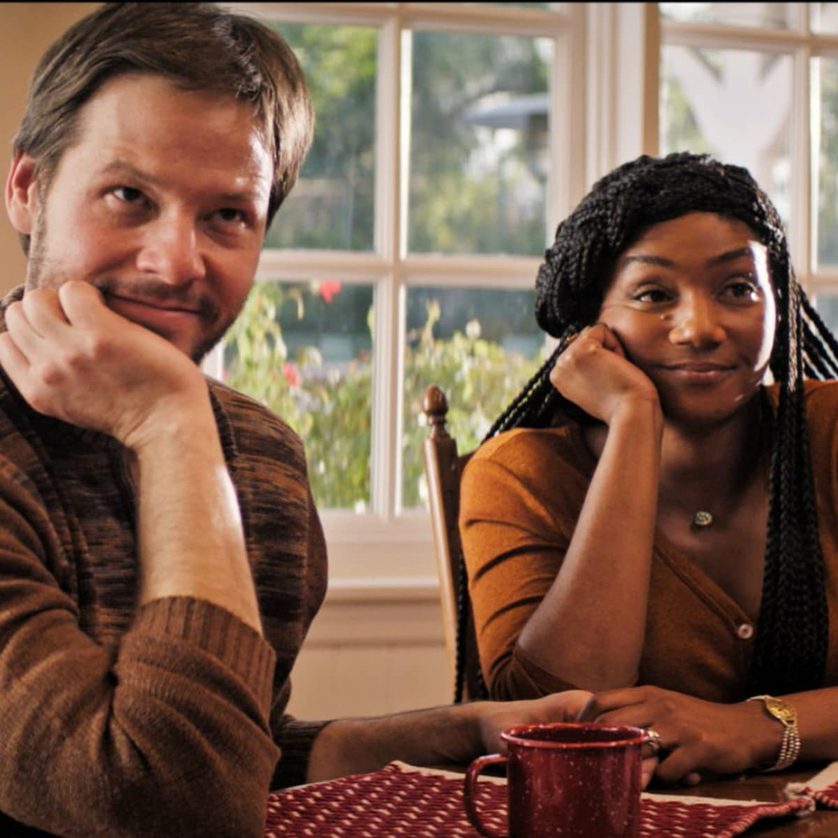 Ike Barinholtz and Tiffany Haddish in The Oath