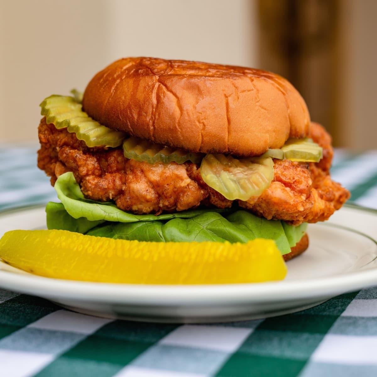 BB Lemon fried chicken sandwich