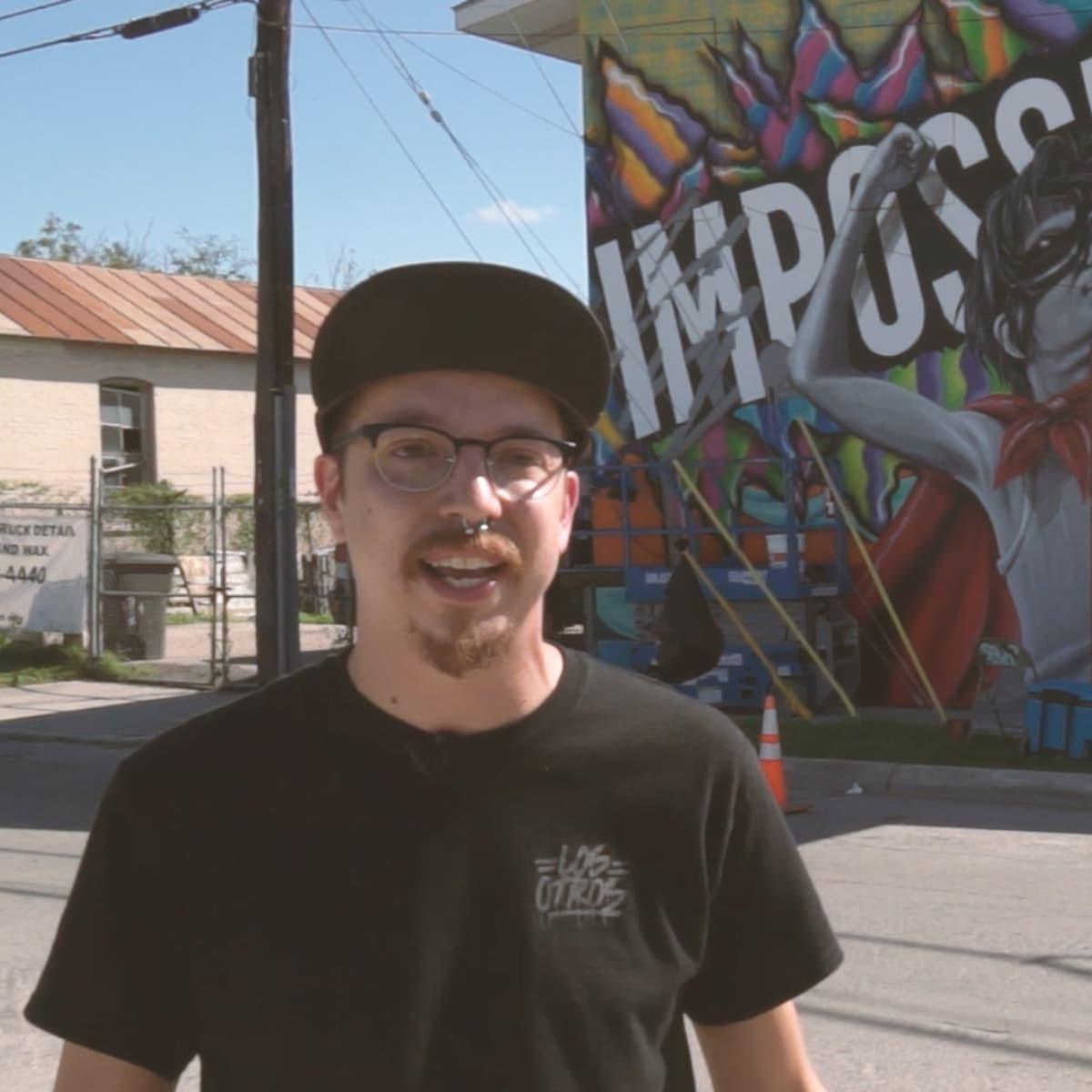 San Antonio Frost Opt for Optimism mural