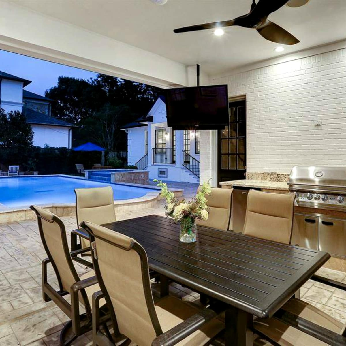 Tom Herman home for sale outdoor kitchen
