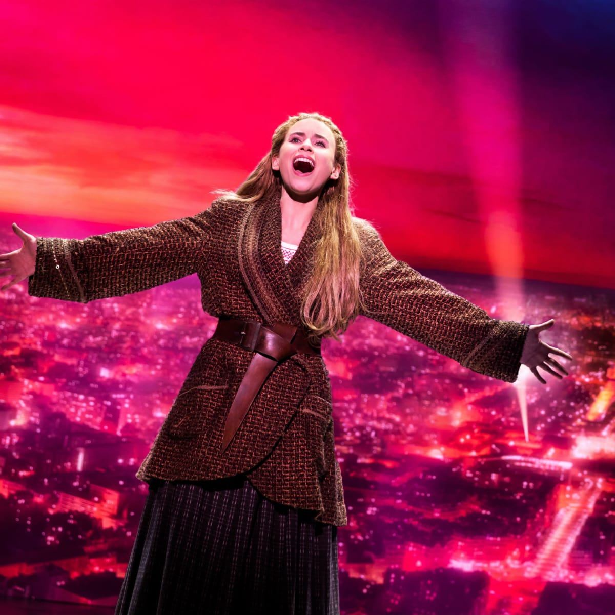 Lila Coogan in the touring production of Anastasia