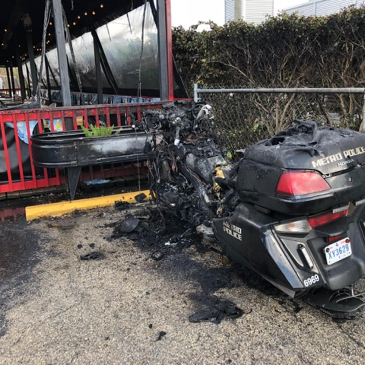 Jax Grill Metro motorcycle fire
