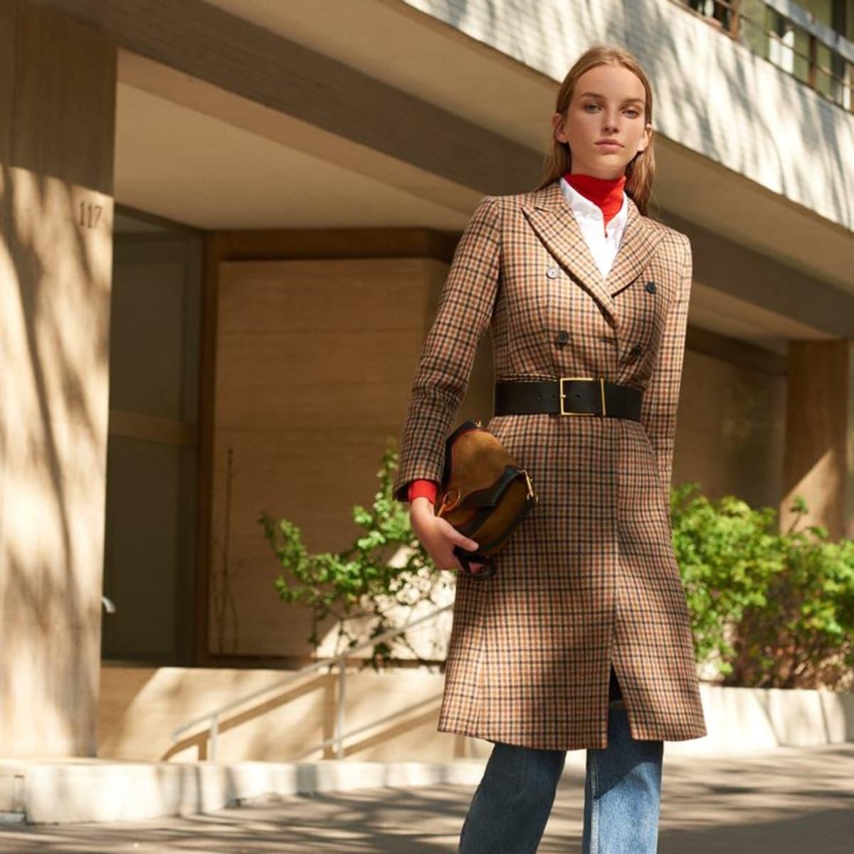 Sandro women's coat Paris checked pattern