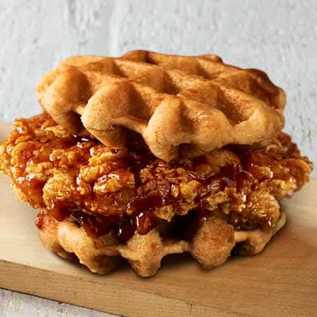 KFC Chicken Waffles Sandwich