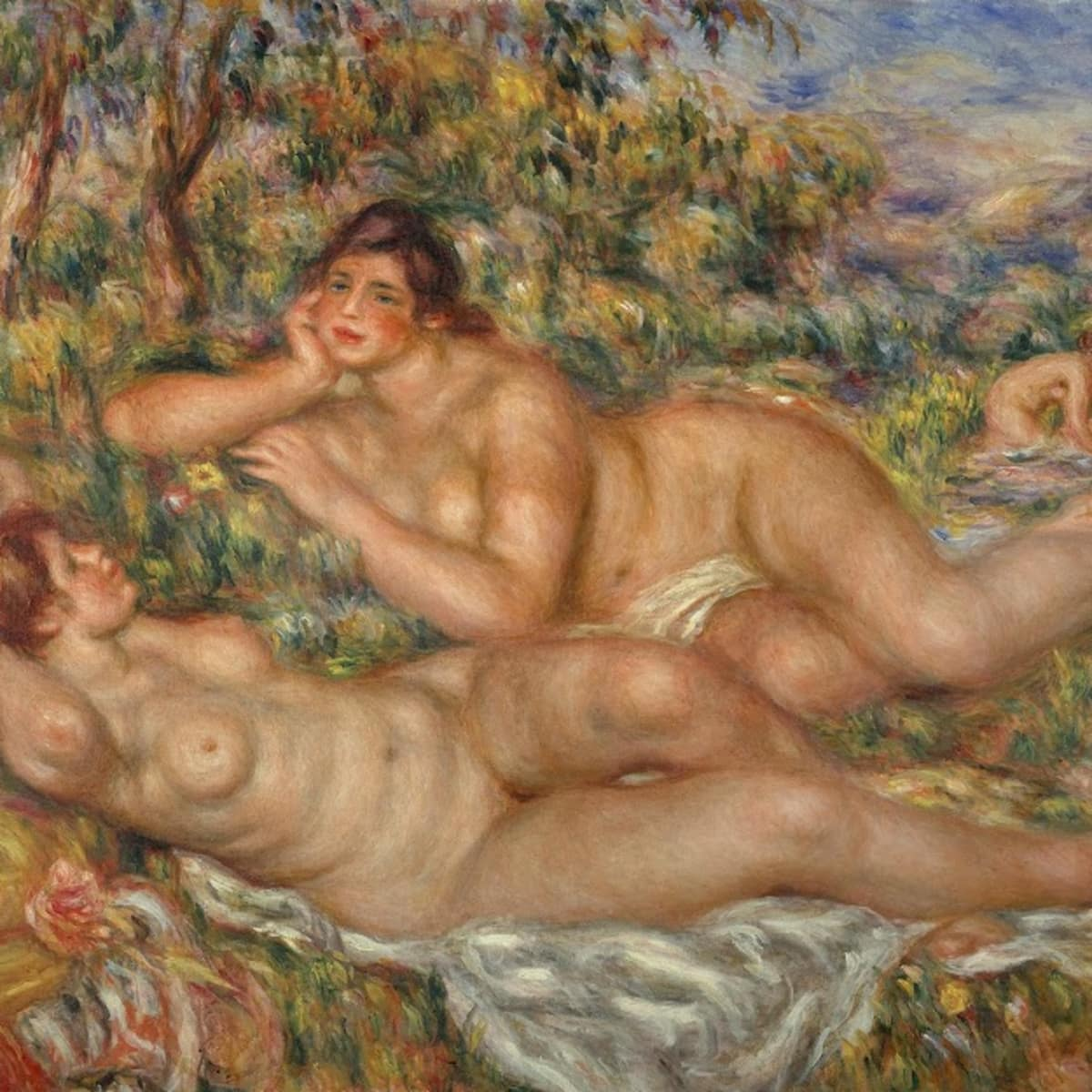 Pierre-Auguste Renoir, The Bathers, 1918-19, Oil on canvas