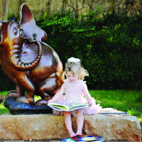 Storybook sculpture in Abilene, Texas
