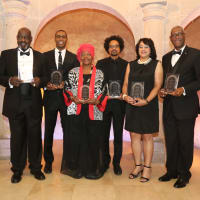 Rice Black Alumni gala 10/1 Rodrigo Barnes, Joseph Branch, Janis Scott, Alex Byrd, Andrea Ehlers and Roland Smith