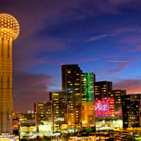 Reunion Tower and Hyatt Regency Dallas