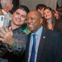 Big Texas Party Mayor Sylvester Turner poses for selfie with fan