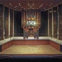 Bates Recital Hall interior organ UT