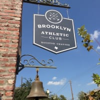 Brooklyn Athletic Club, Houston Chapter, sign