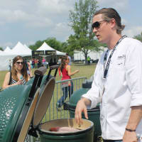 San Antonio chef Jason Dady at the Austin Food and Wine Festival Fire Pits