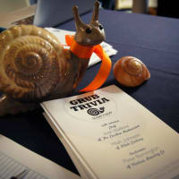 2013 Slow Food Austin Grub Trivia snail and menu