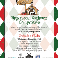 Seventh Annual Gingerbread Doghouse Competition