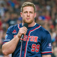 Houston, 5th annual JJ Watt Charity Classic, May 2017, J.J. Watt in baseball uniform