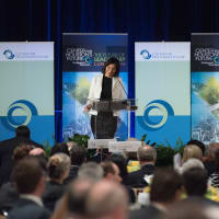 Center for Houston's Future luncheon, March 2016, Laura Arnold