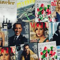 Conde Nast magazine covers December 2015 Vogue GQ Wired Allure W Bon Appetit Traveler