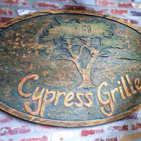 Cypress Grille restaurant sign