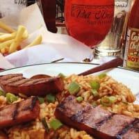 Pat O'Brien's San Antonio restuarant New Orleans Cajun food jambalaya