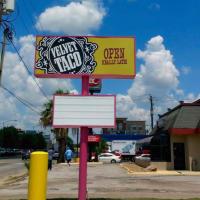 Velvet Taco Houston sign
