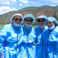 Houston Methodist in Aspen, July 2017, Denise Monteleone, Dathel Coleman, Paula Loud, Marie O'Neill