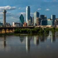Dallas, city, skyline, Trinity