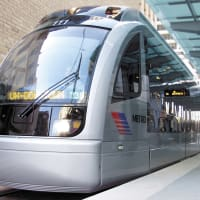 METRORail, light rail, train, downtown Houston