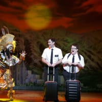Monica L. Patton, Ryan Bondy, Cody Jamison Strand in The Book of Mormon national tour