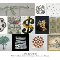 """Art & Currency - Artistic Reinterpretation of Cash and Coins"" opening day"