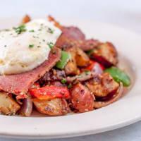 Corned beef hash, Irish brunch, Chef Point Cafe