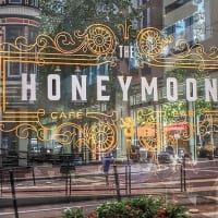 The Honeymoon Cafe exterior window