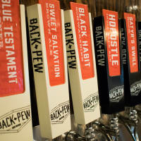 Back Pew Brewing taps