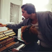 "Nathan Felix directs pianist Anna Larson in performing ""Adagietto."""