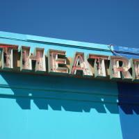 Austin photo: Places_Arts_Blue_Theatre_Sign