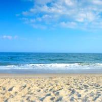 Galveston blue water beach