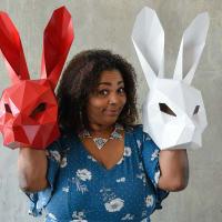 Liz Mikel in White Rabbit Red Rabbit