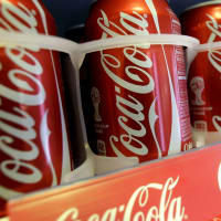 Coke cans new Coca-Cola facility Houston