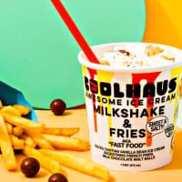 Drive-Thru Gourmet - Coolhaus ice cream milkshake & fries