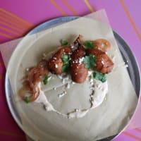 Crab cake corndogs 8 Track Austin