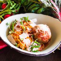 Mona Italian Food pasta with meatball