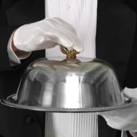 dome waiter white gloves